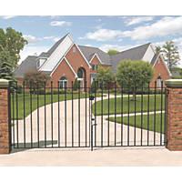 Metpost Wenlock Double Gate Black 1425 x 900mm