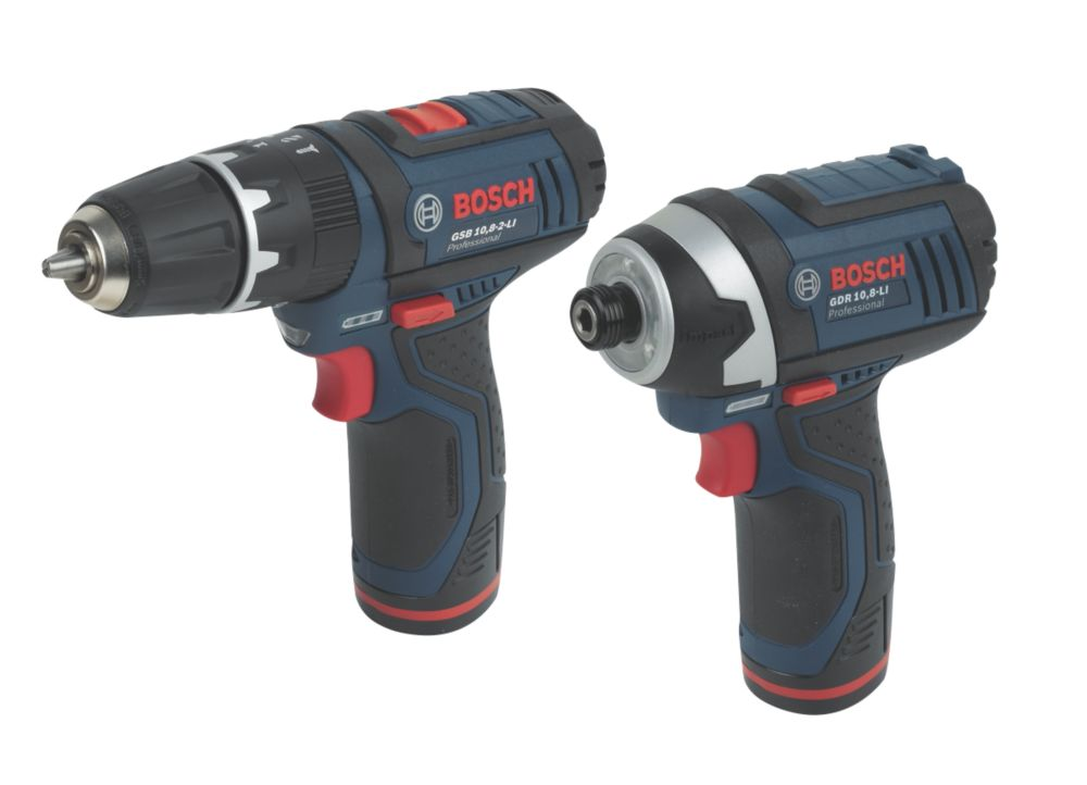 Bosch 108VliTWIN 10.8V 1.3Ah Li-Ion Twin Pack Combi Drill & Impact Driver