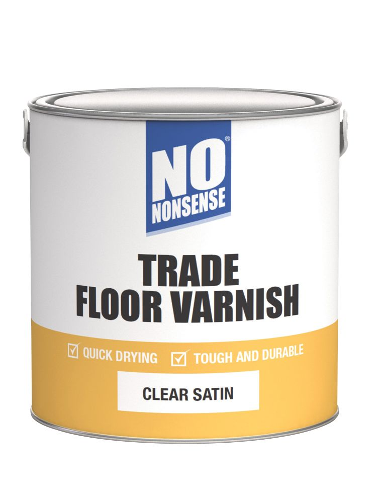 No Nonsense Quick-Dry Floor Varnish Satin 2.5Ltr