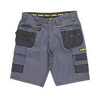 "DeWalt Ripstop Multi-Pocket Shorts Grey / Black 30"" W"