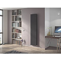 Ximax Fortuna Vertical Double-Panel Designer Radiator Anthracite 1800 x 294mm
