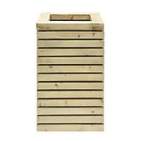 Grange Rectangular Tall Wooden Planter Green 500 x 400 x 780mm 4 Pack