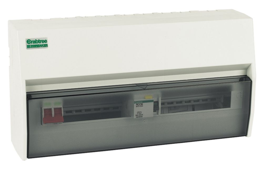 Crabtree 15-Way Fully Insulated Split Load Consumer Unit