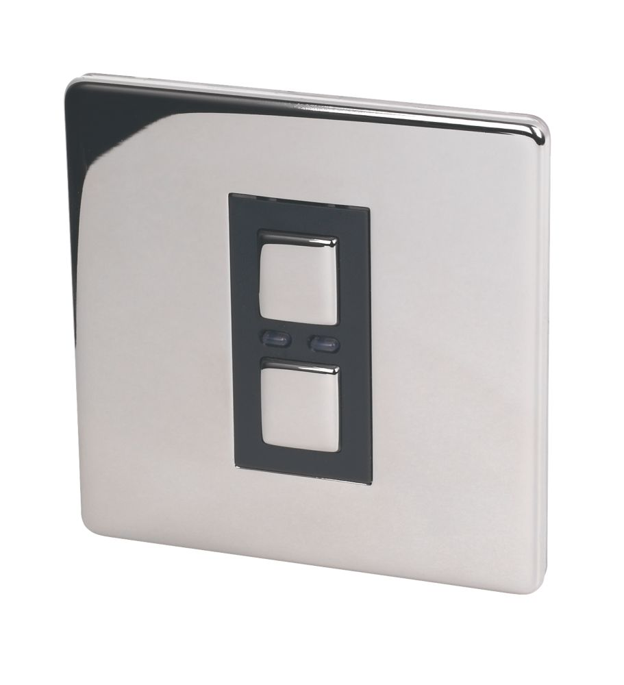 1-Gang 1-Way Dimmer Switch Chrome with Black Insert 250W