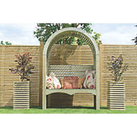 Grange Contemporary Arbour 1.5 x 0.6 x 2.4m Natural Green