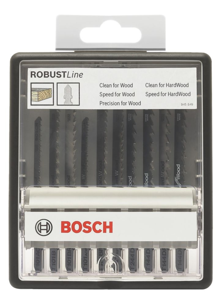 Bosch Jigsaw Blades Wood 10 Piece Set