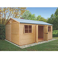 """Shire 14' 8"""" x 10' 2"""" (Nominal)  Tongue & Groove Timber Workshop with Assembly"""