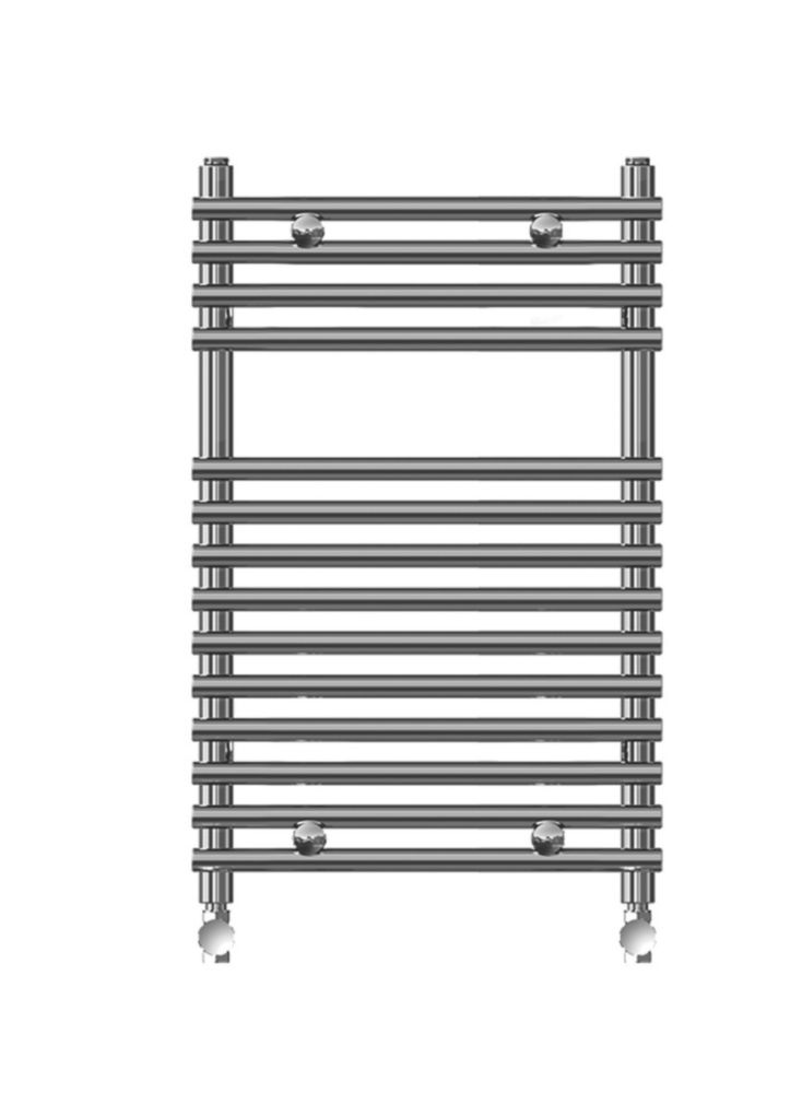 Kudox Flat Bar-on-Bar Towel Rail Chrome 500 x 700mm 292W 996Btu