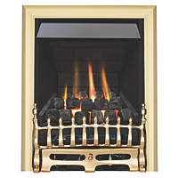 Focal Point Blenheim Brass Rotary Control Inset Gas Multiflue Fire