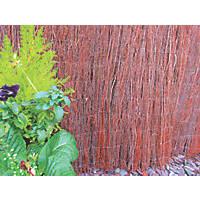 Apollo Natural Willow Thatched Garden Screen 1 x 4m