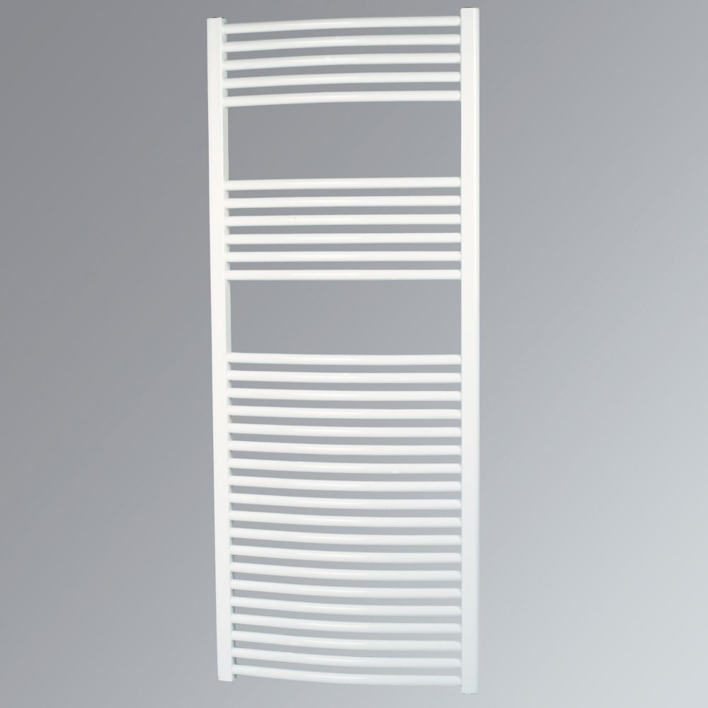 Kudox Curved Towel Radiator White 1500 x 600mm 832W 2839Btu