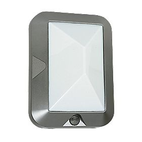 Portland Eco Silver Effect Outdoor Wall Light