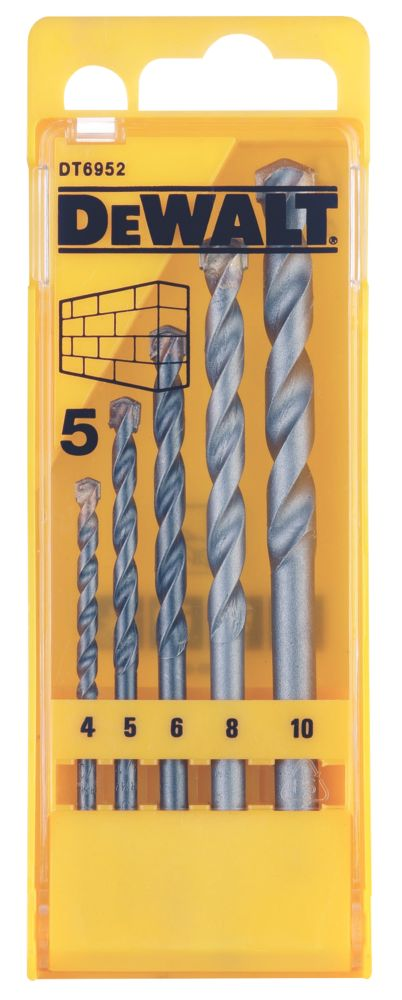 Dewalt 5 Piece Masonary Drill Bit Set