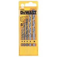 Dewalt 5 Piece Masonry Drill Bit Set