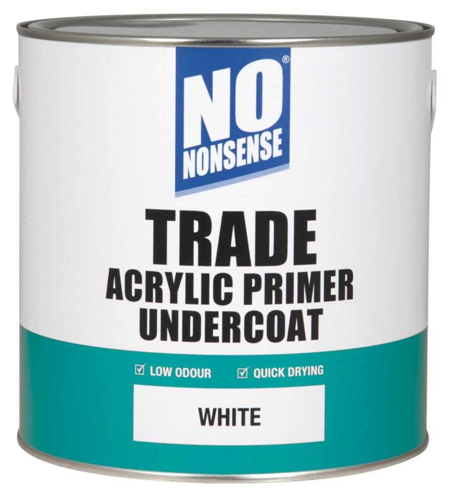 No Nonsense Trade Acrylic Primer Undercoat White 2.5Ltr