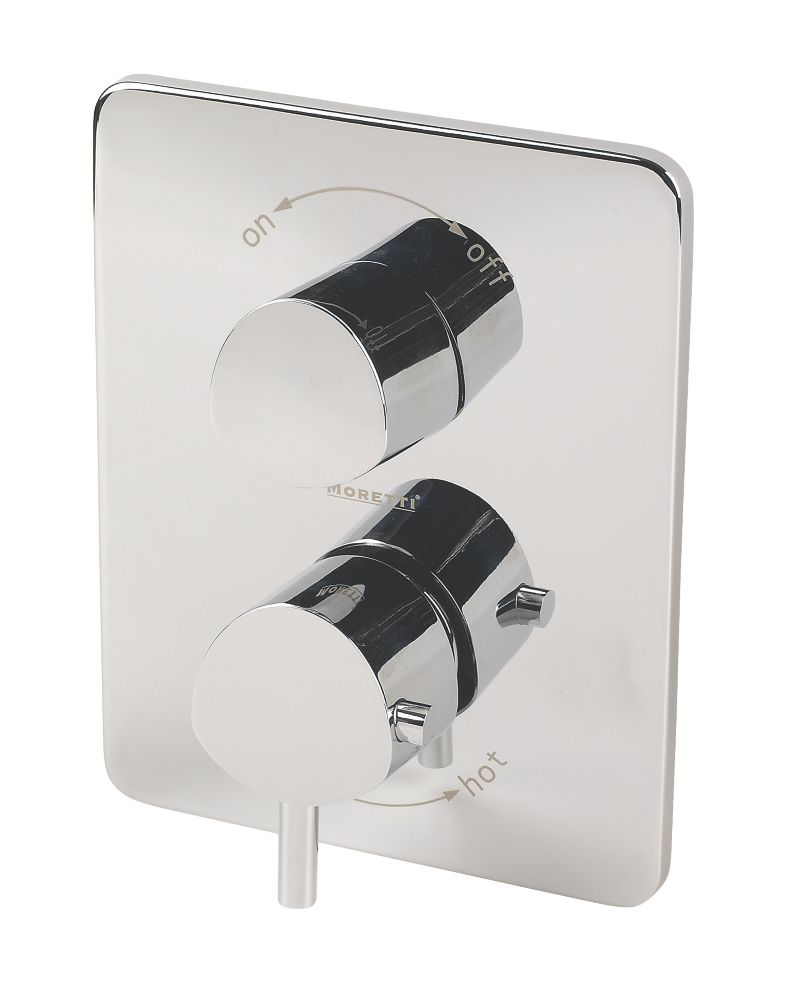 Moretti Acqua Thermostatic Dual Control Mixer Shower Built-In Chrome Effect