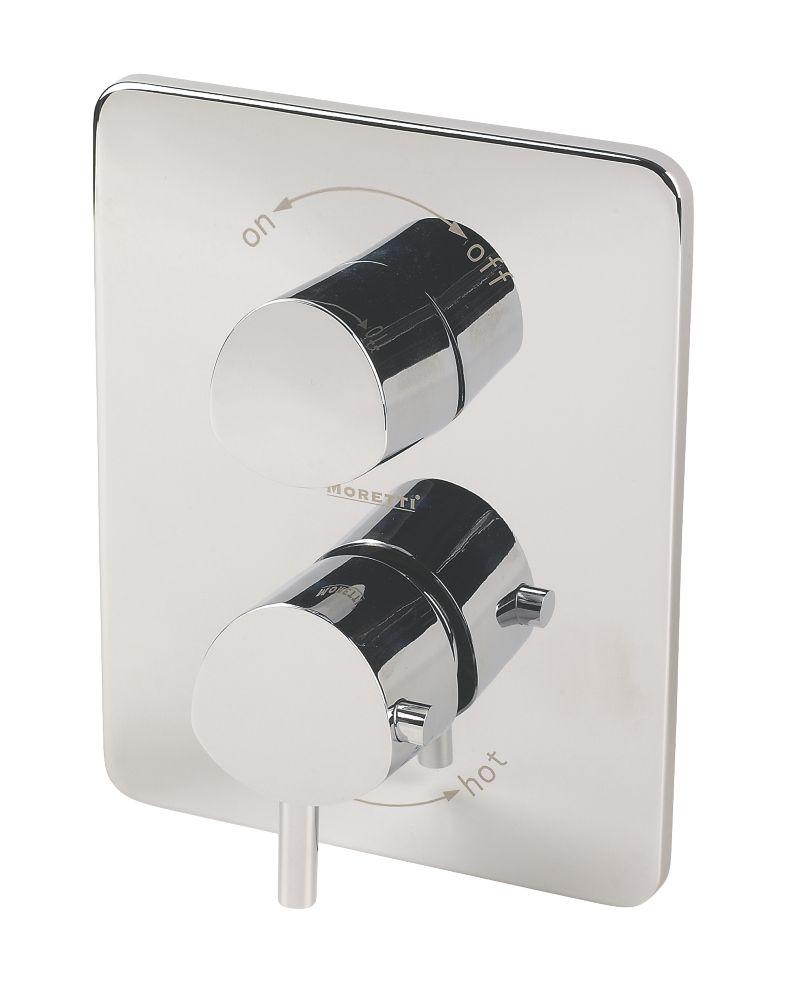 Moretti Acqua Thermostatic Dual Control Mixer Shower Built-In Chrome Effect