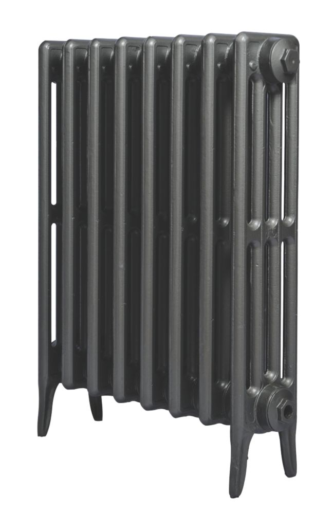 Cast Iron 660 Designer Radiator 4-Column Anthracite H: 660 x W: 397mm