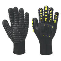 Delta Plus Nysos VV904 Anti-Vibration Impact Gloves Black Large