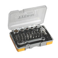 Titan Screwdriver Bit Set & Mini Ratchet 27 Piece Set