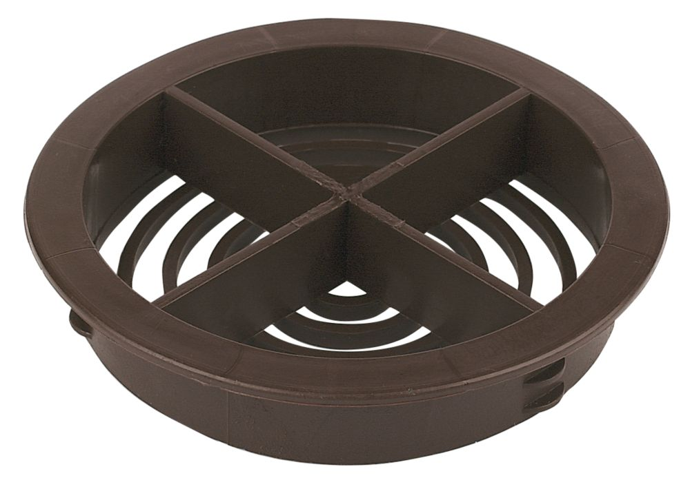 Circular Soffit Vent Brown 70mm Pack of 10