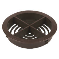 Circular Spffit Vent Brown 70mm 10 Pack