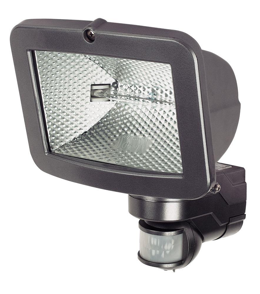 IQ Pyro Pro Symmetric PIR Sensor Floodlight Graphite 400W