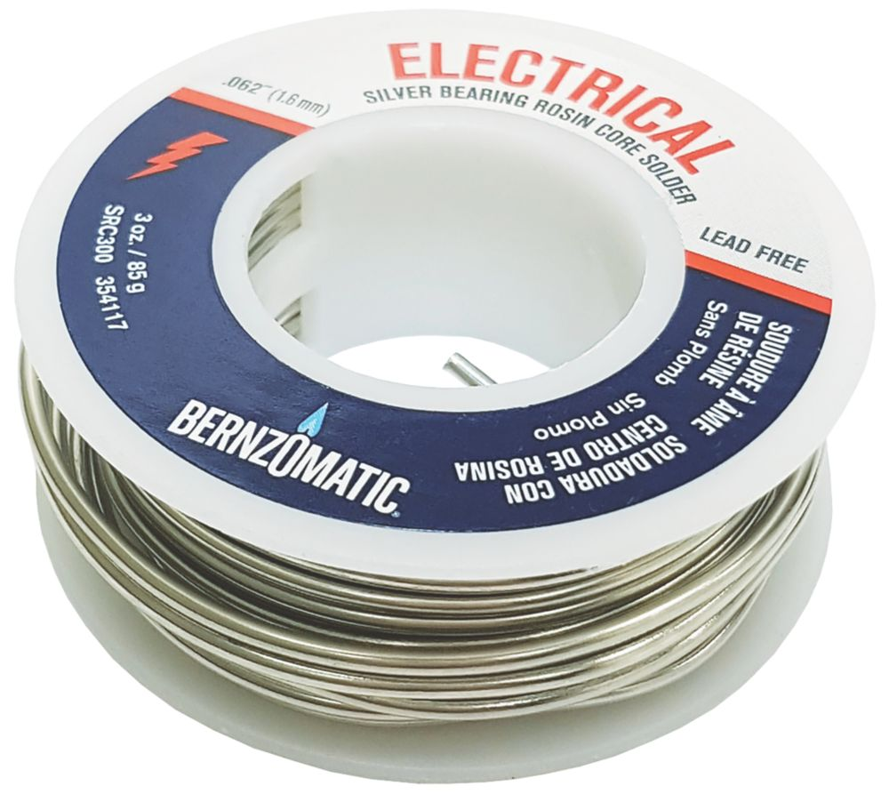 Bernzomatic Lead-Free Rosin Core Solder 3oz