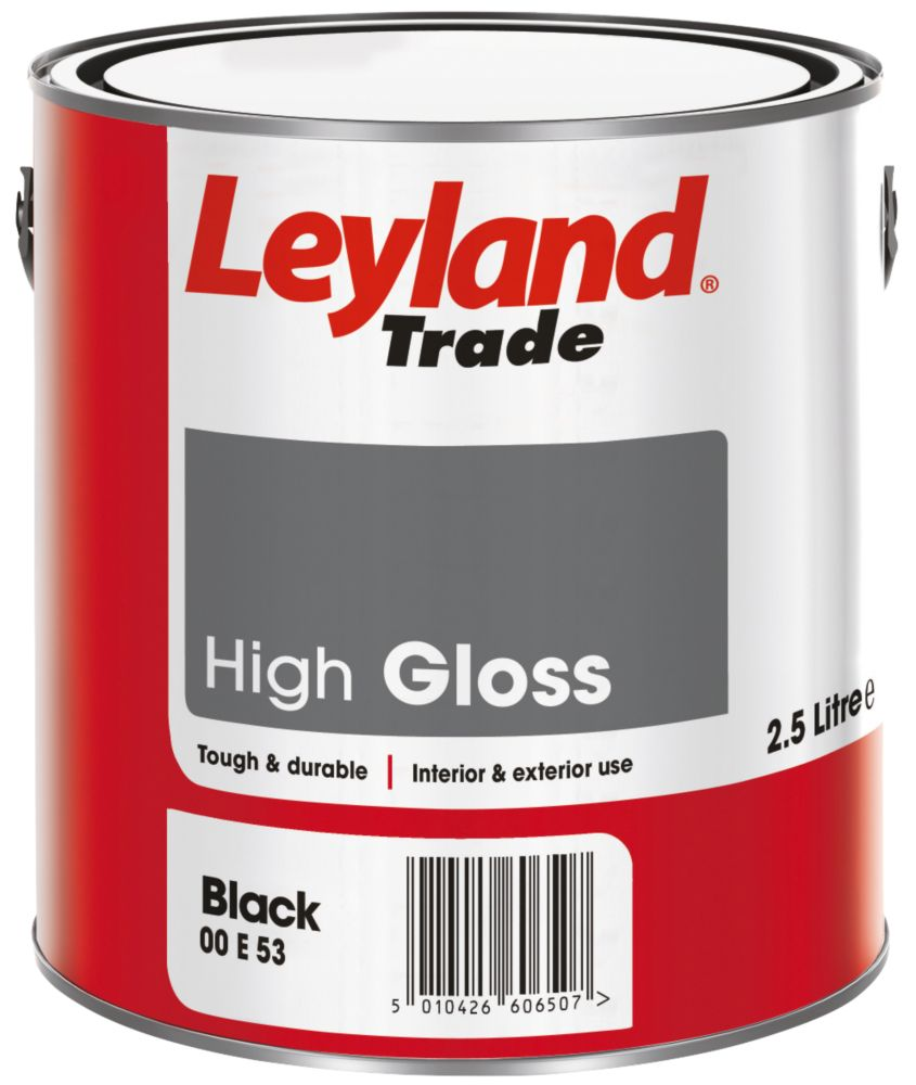 Leyland Gloss Paint Black 2.5Ltr