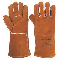 Honeywell Premium Welders Gauntlets Gold One Size