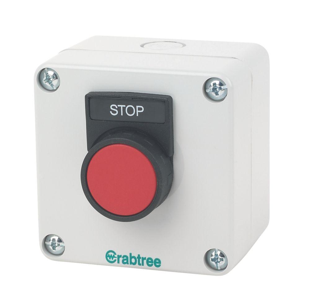 Crabtree 1-Way Stop Push Button