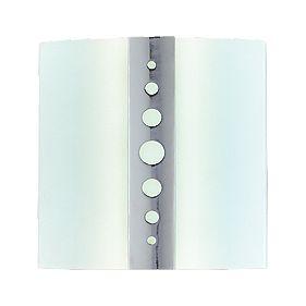 Chrome / Opal Glass Sky Bathroom Wall Light