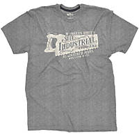 "Site Industrial T-Shirt Grey X Large 46-48"" Chest"
