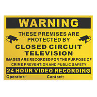 Secyour CCTV A4 Warning Sign 298mm