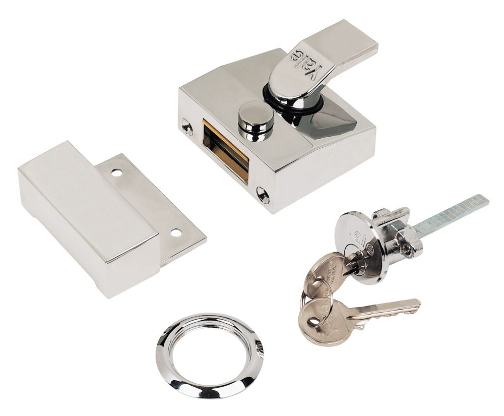 Yale Narrow Night Latch Polished Chrome 60mm Backset