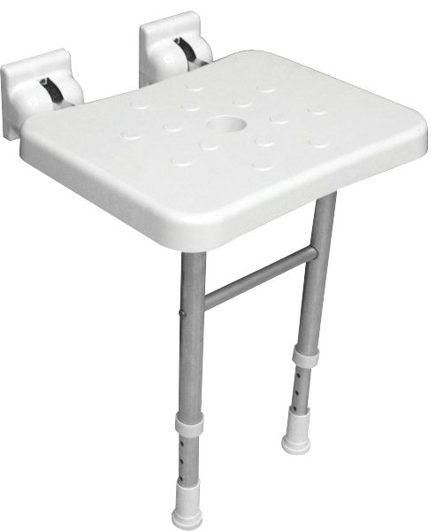 Elderly & Disabled Bathroom Shower Seat White 500 x 366mm