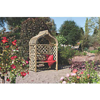 Rowlinson Jaipur Arbour 1.3 x 0.8 x 2.5m Natural timber