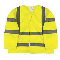 """Portwest Hi-Vis Class 3 Waistcoat Yellow XX Large / XXX Large 59"""" Chest"""