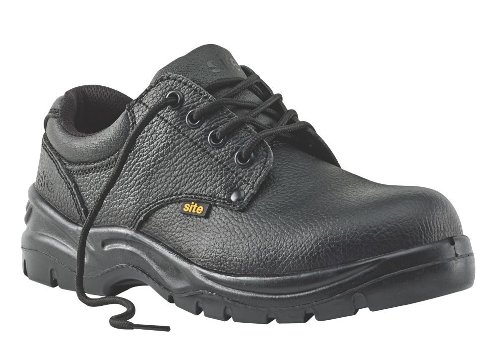 Site Coal Safety Shoes Black Size 7