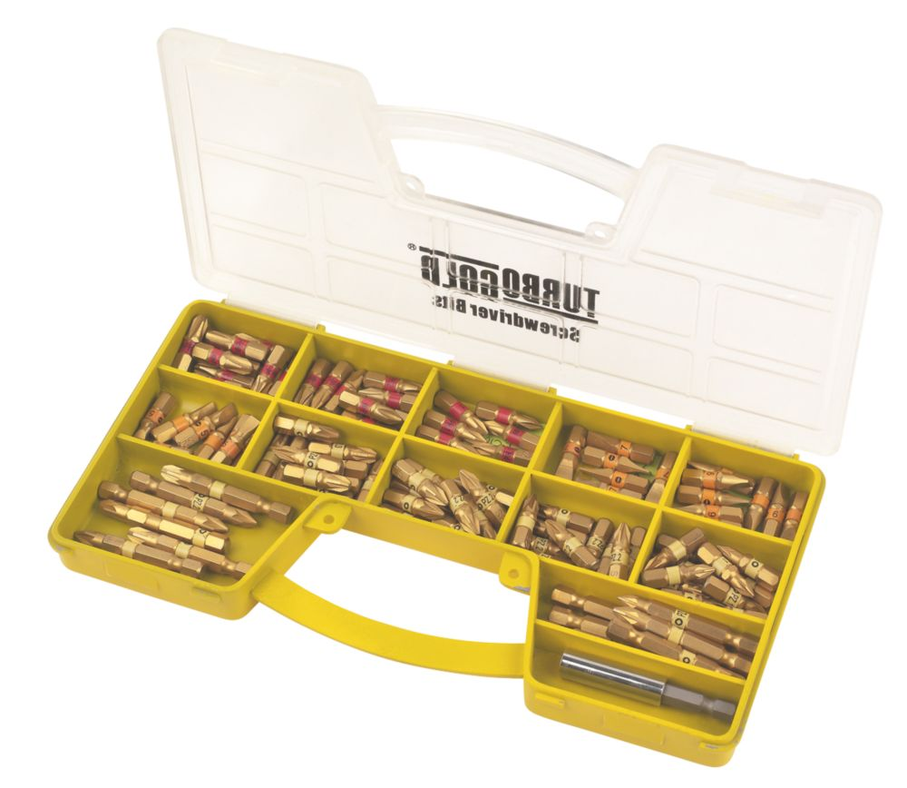 TurboGold Assorted Screwdriver Bit Case
