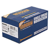 Goldscrew Plus Woodscrews Double Countersunk 4 x 40mm 1000 Pack
