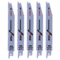 Bosch Reciprocating Saw Blades Metal S123XF 150mm 14Tpi Pack of 5