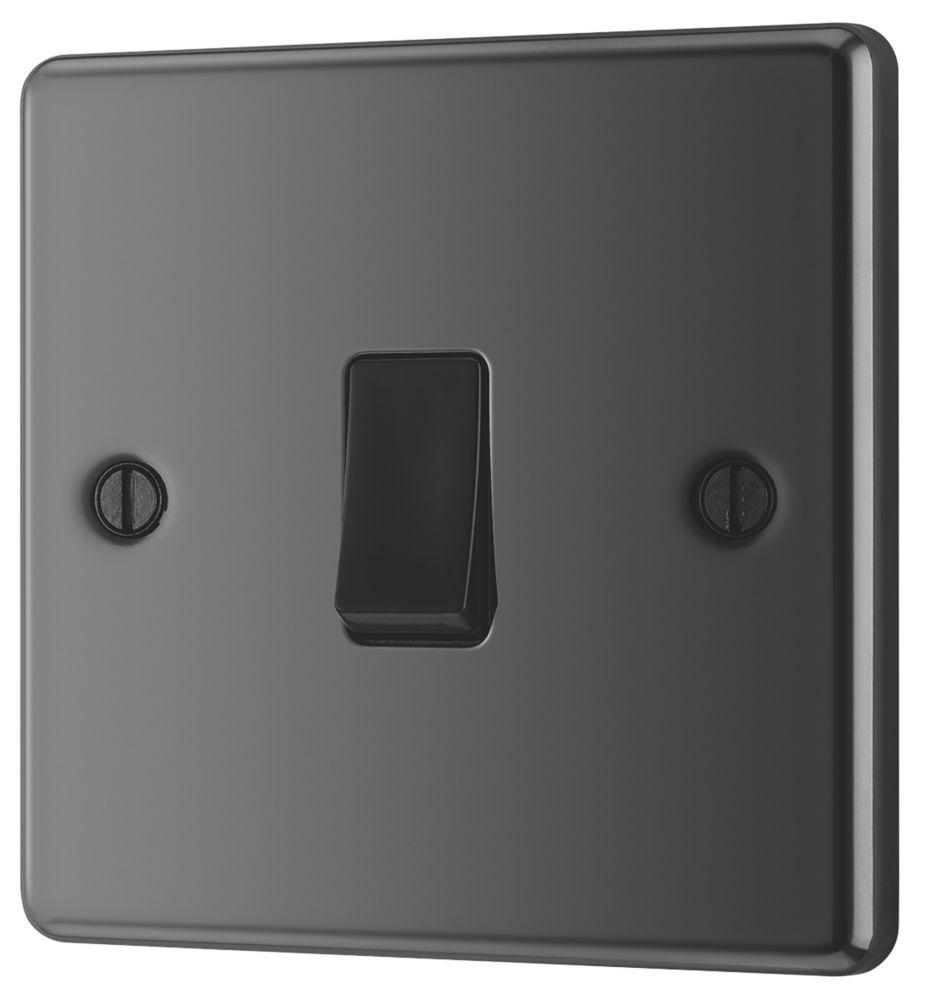 LAP 1-Gang 2-Way 10AX Light Switch Black Nickel