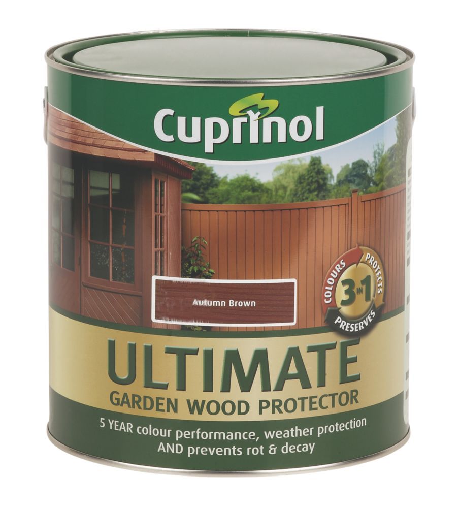 Cuprinol Ultimate Garden Wood Protector Autumn Brown 4Ltr
