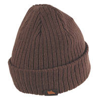 Hyena Wool Beanie Hat Brown