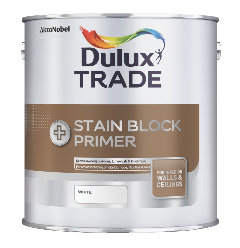 Dulux Trade Stain Block Plus White 1Ltr