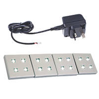 Sensio Fyra LED Plinth Lights Kit Aluminium 4 Pack