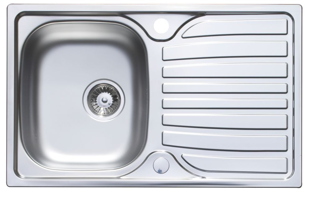 Astracast Cascade Stainless Steel Compact 1 Bowl Kitchen Sink with Drainer