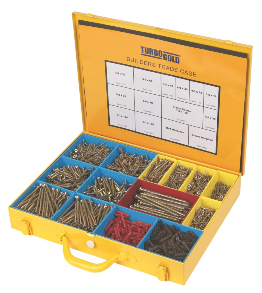 TurboGold Builders Trade Case 2000 Pieces