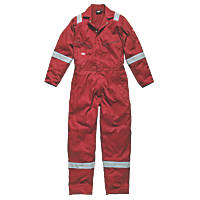 "Dickies WD2279 Zip Front Coverall Red Small 36-38"" Chest  L"